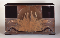 BAN'URA Shogo, Shelf, Autumn Evening Design in maki-e, 1930