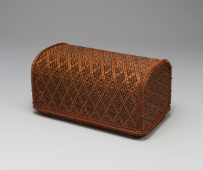 IIZUKA Shokansai, Ornamental Bamboo Box of Lozenge Pattern, 1974