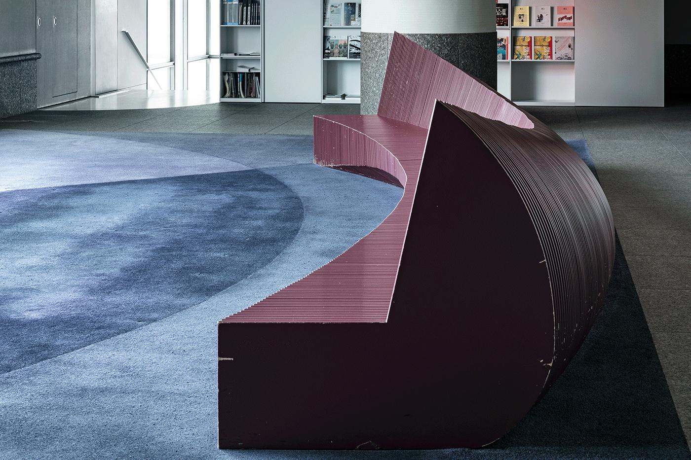 Furniture by Fujie Kazuko. Photo by Hasegawa Kenta