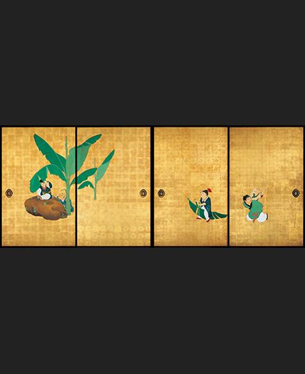 Maruyama Ōkyo, Guo Ziyi and Children, (4 sliding door panels from a set of 8 sliding door panels), 1788, Daijo-ji Temple, Hyogo, Importan Cultural Property