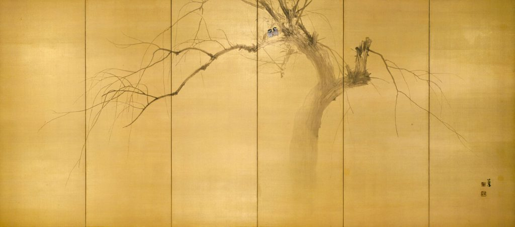 TAKEUCHI Seiho, Willow Trees on the Frosty Riverside, c. 1904