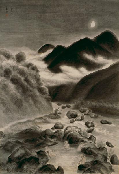 YAMAGUCHI Hachikushi, Moonlight Night, 1931