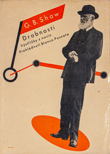 G.B. Shaw, Short works II, 1933 trans.: A. Pflanzer and K. Mušek, design: L. Sutnar and title drawing: Zd. KratochvílNakanoshima Museum of Art, Osaka