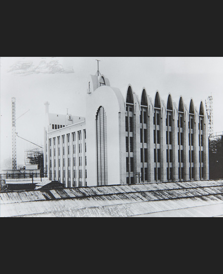 Mamoru Yamada, Tokyo Central Telegraph Office upon completion, Photographed in 1925, POSTAL MUSEUM JAPAN
