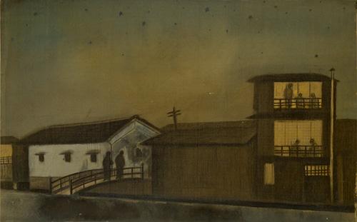 ITO Hakudai, Night View at Kiyamachi, 1915