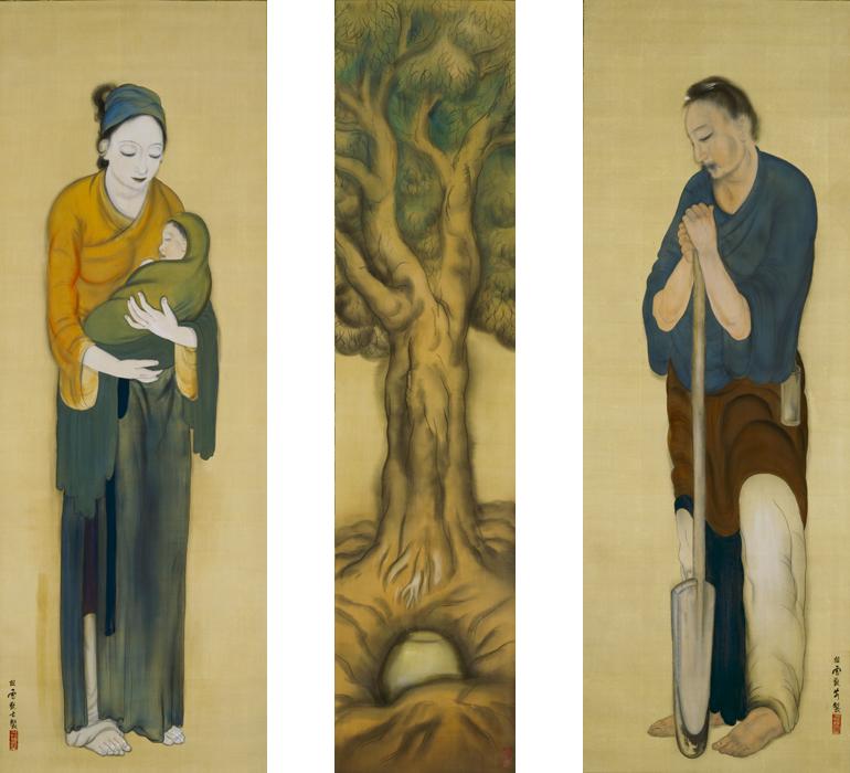 "HASHIMOTO Kansetsu, Guojo (Kakukyo) from ""The Twenty-four Exemplars of Filial Devotion""1919"