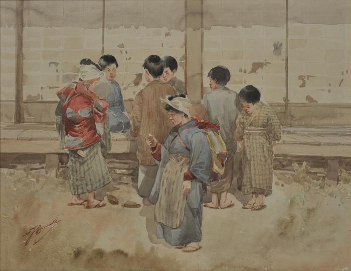 YAMADA Basuke, A Sunny Day, late Meiji era