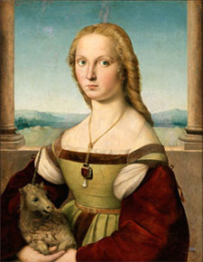 Raphael (1505–06) Portrait of a Lady with a Unicorn