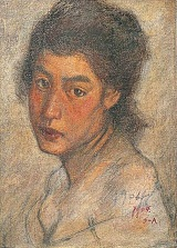AOKI Shigeru [A Woman's Face] 1904, Private Collection