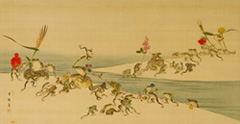 Kouno Bairei, The Battle between two groups of frogs, in the spring and the autumn, c. 1894,  The National Museum of Modern Art, Kyoto