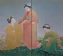 入江波光《摘草》 1928年