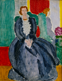 アンリ・マティス《鏡の前の青いドレス》 1937年