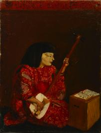 岸田劉生《麗子弾絃図》 1923年