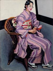 安井曾太郎《婦人像》 1930年