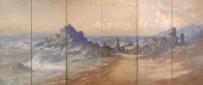 田村宗立《越後海岸図屏風》 1903年