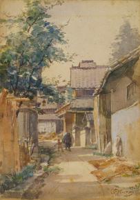 都鳥英喜《真如堂裏》 1906年