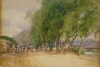 田中善之助《朝の出町》 1907年