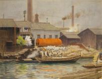 千種掃雲《浪華の春》 1910年