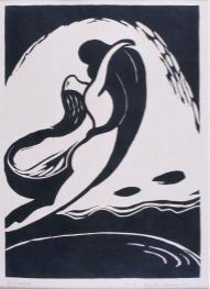 長谷川潔《風(イエーツの詩に寄す)》 1915年