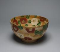 北大路魯山人《色絵金彩椿文鉢》 1955年