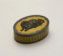 清水南山《獅子文小箱》 1928年