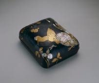 杉林古香/図案:浅井忠《鶏梅蒔絵文庫》 1906年