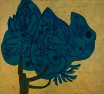 小合友之助《屏風「樹」》 1960年