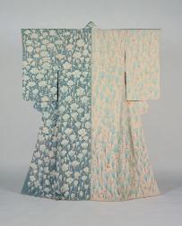 木村雨山《変織縮緬訪問着「花」》 1965年
