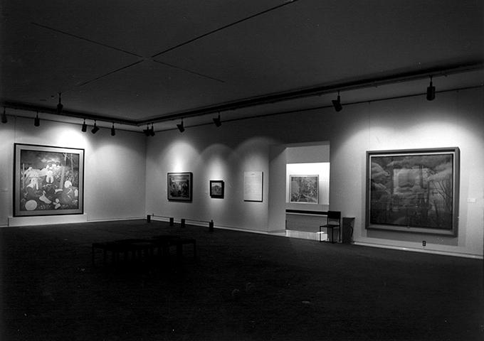 「国画創作協会回顧展」会場1993年