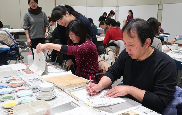 「円山応挙から近代京都画壇へ」関連ワークショップ 日本画-実演と体験-