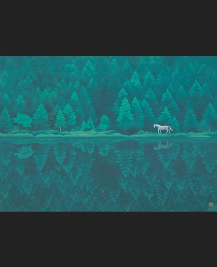 東山魁夷《緑響く》1982(昭和57)年 長野県信濃美術館 東山魁夷館