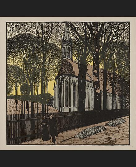 カール・モル《ハイリゲンシュタットの聖ミヒャエル教会》1903年 京都国立近代美術館