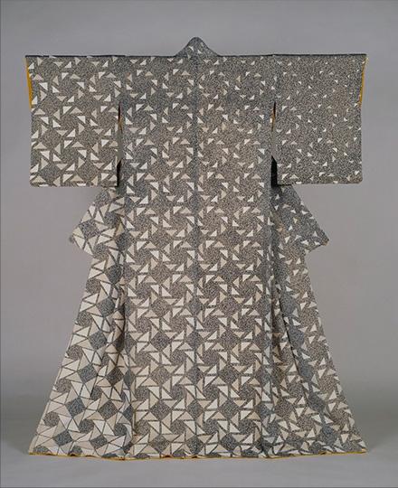森口邦彦《友禅着物「雪明り」》1969年 京都国立近代美術館