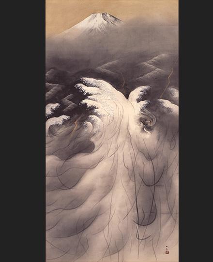 横山大観《或る日の太平洋》1952(昭和27)年 東京国立近代美術館