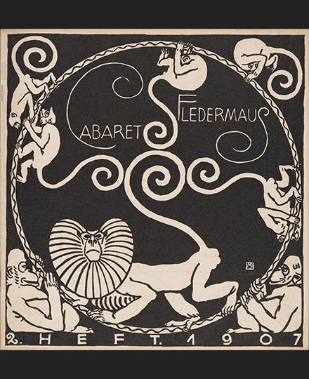 表紙:モーリツ・ユンク、装丁:カール・オットー・チェシュカ《『キャバレー〈フレーダーマウス〉上演本』第2号》1907年 京都国立近代美術館