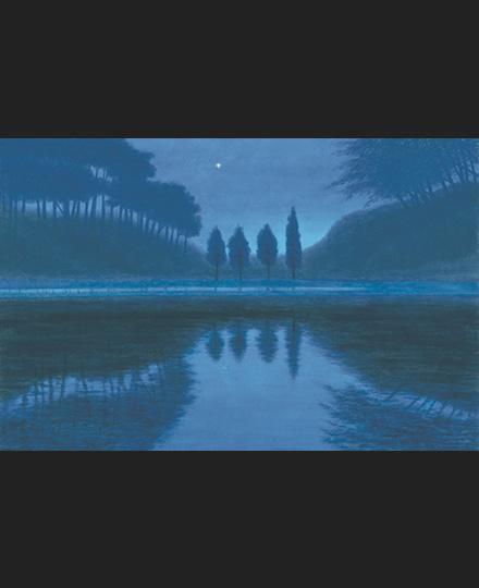 東山魁夷《夕星》1999(平成11)年 長野県信濃美術館 東山魁夷館