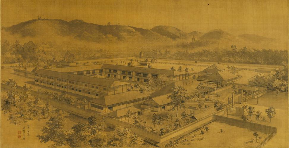 田村宗立《京都駆黴院図》1885年