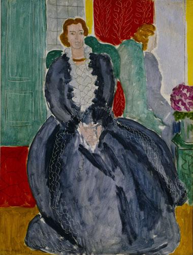 アンリ・マティス《鏡の中の青いドレス》1937年