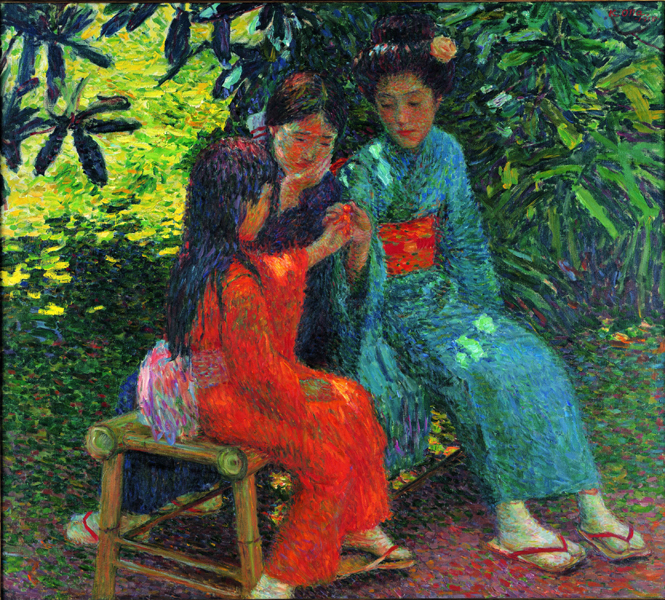 太田喜二郎《少女》1915年