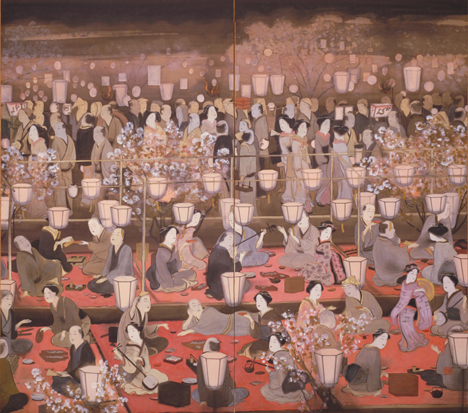 村上華岳《夜桜之図》1913年