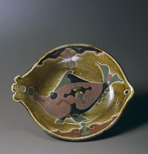 河井寬次郎《魚鉢》1951年