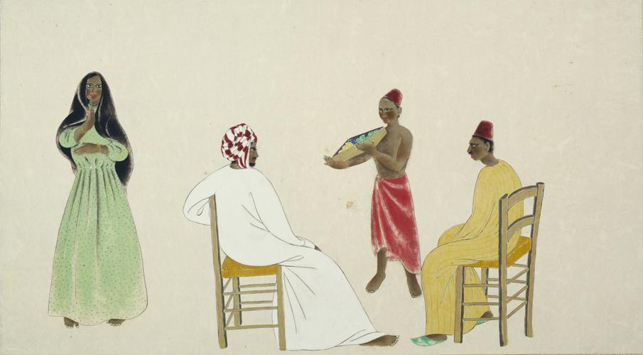速水御舟《埃及風俗図巻》1931年
