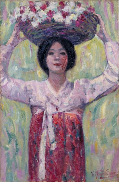 藤島武二《花籠》1913年