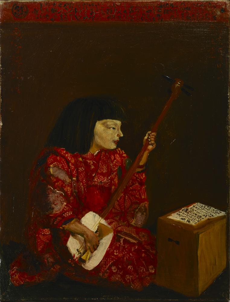 岸田劉生《麗子弾絃図》1923年