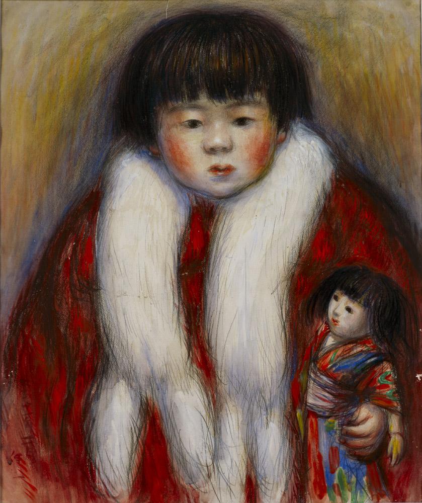 水木伸一《葉子三歳の像》1920年頃