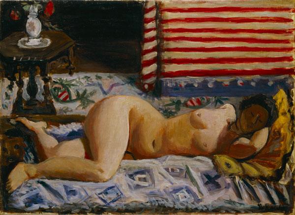 小出楢重《横たわる裸女(B)》1928年