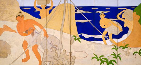 土田麦僊《海女》(右隻)1913年(展示期間:7月22日~8月23日)