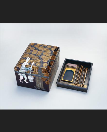 神坂祐吉《月象之図 硯付手箱》 制作年不詳