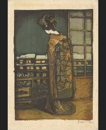 織田一磨《京都風景:加茂川》1925(大正14)年