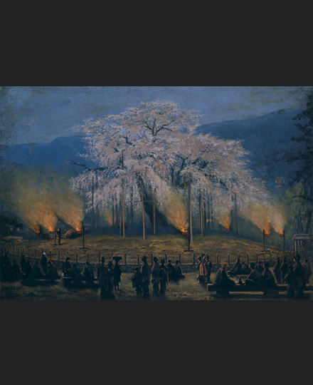 印藤真楯《夜桜》1897(明治30)年